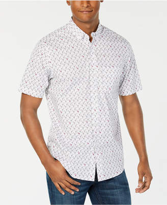 Club Room Men Flamingo Print Short Sleeve Shirt