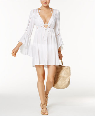 Raviya Lace-Trim Bell-Sleeve Cover-Up $54 thestylecure.com
