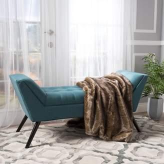 Ralph Lauren Noble House Dark Teal Fabric Bench