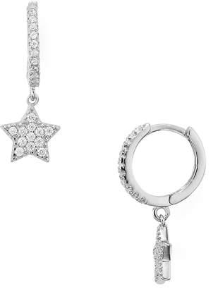 Aqua Sterling Silver Star Hoop Earrings - 100% Exclusive