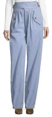 Rosie Assoulin Safari Buckled Cotton Pants