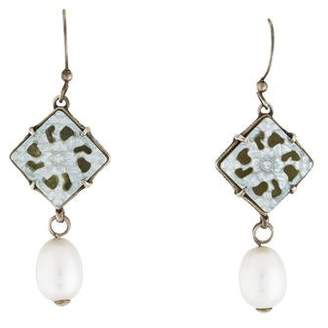 Stephen Dweck Mother of Pearl & Pearl Drop Earrings