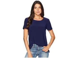 Anne Klein Short Sleeve Knit High-Low Tee Women's T Shirt