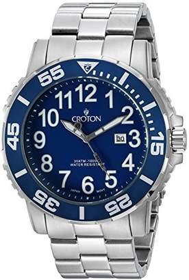 Croton Men's CA301280BUBL Analog Display Quartz Silver Watch