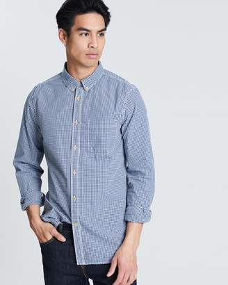 French Connection City Shirting Peached Gingham Shirt