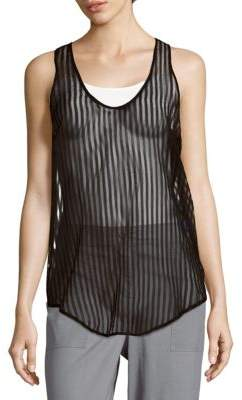 IRO Sleeveless Striped Cotton & Silk Top
