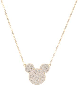 Disney Mickey's 90th Birthday Pave' Mickey Necklace, Sterling Silver
