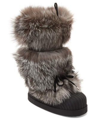 Moncler Real Fox Fur Moon Boots