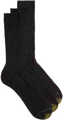 Gold Toe Canterbury Crew Socks - 3 Pack - Men's
