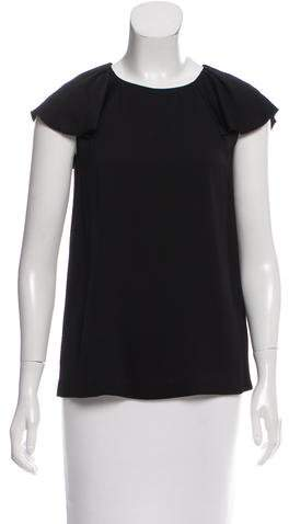 Kate Spade New York Short Sleeve Scoop Neck Blouse