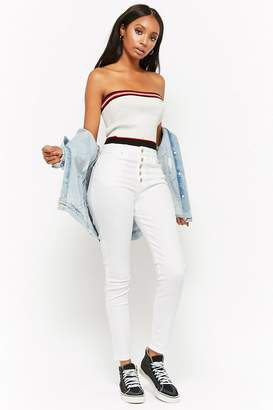 Forever 21 Button Fly Skinny Jeans