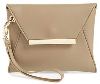 BP Faux Leather Envelop Clutch