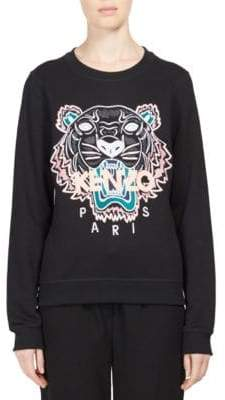 Kenzo Embroidered Tiger Icon Cotton Sweatshirt
