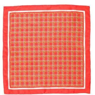 Chanel Logo Print Silk Pocket Square