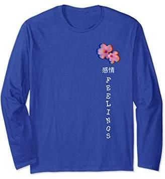 Vaporwave Aesthetic Feelings Flowers Long Sleeve shirt