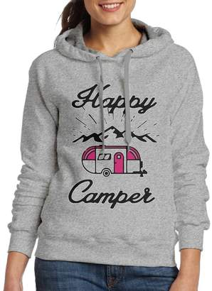 Camper BERT LIFE Happy Camping Casual Women Hoodies Long Sleeve Drawstring Sweatshirt XXL
