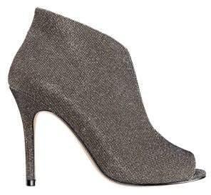 Nina Merima Glitter Peep-Toe Booties