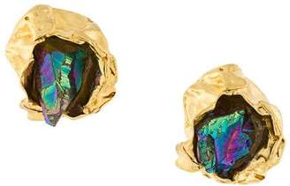 Niza Huang Crush Stone stud earrings