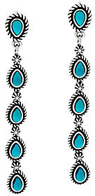 American West As Is Turquoise Sterling Linear Earrings by American West