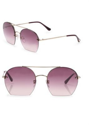 Tom Ford Eyewear Antonia 55MM Round Sunglasses $395 thestylecure.com