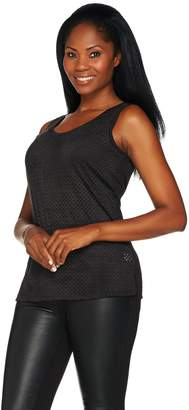 Women With Control Women with Control Controlways Perforated Faux Suede Tank