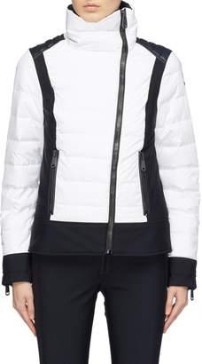 Goldbergh 'Veloce' faux leather shoulder down puffer ski jacket