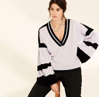 Amanda Wakeley Lilac Bell Sleeve Cashmere Jumper