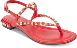 Marc Fisher Pamali Studded Flat Sandals Women's Shoes