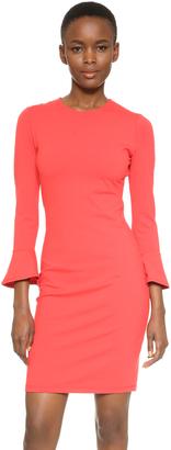 Susana Monaco Emma 3/4 Ruffle Sleeve Dress $185 thestylecure.com