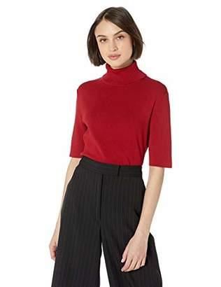 Anne Klein Women's Half Sleeve Turtleneck Sweater