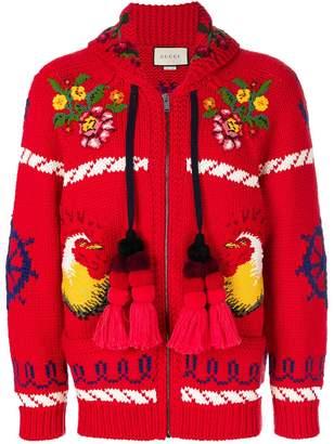 Gucci Bomber jacket with appliqués