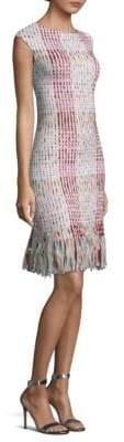 St. John Macro Plaid Ribbon Dress