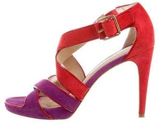 Diane von Furstenberg Suede Multi-Strap Sandals