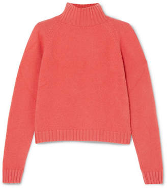 The Elder Statesman Highland Cashmere Turtleneck Sweater - Coral