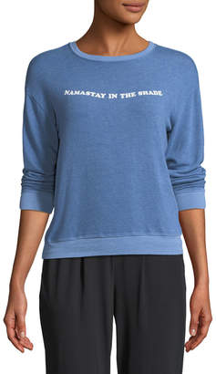 Spiritual Gangster Namastay In The Shade Savasana Crewneck Long-Sleeve Pullover