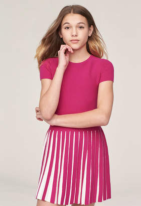 Milly MINIS PLEATED CONTRAST DRESS