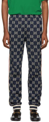Gucci Navy GG Supreme Lounge Pants