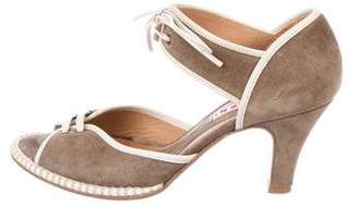 Marni Suede Ankle Strap Pumps