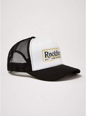 Topman Mens Black 'Rockford' Trucker Cap