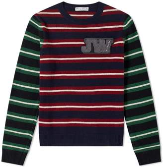 J.W.Anderson Logo Patch Stripe Crew Knit