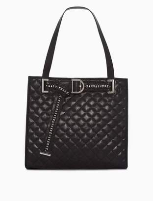 Calvin Klein novelty belt quilted tote