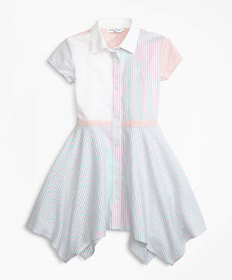 Brooks Brothers Girls Non-Iron Supima Cotton Oxford Fun Shirt Dress