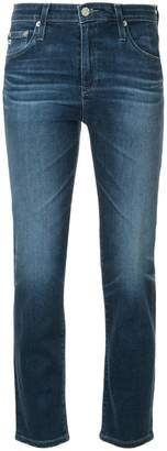 AG Jeans Isabelle five-pocket cropped straight leg jeans
