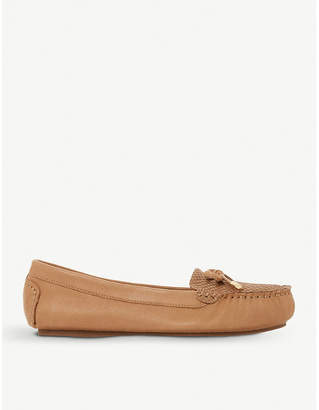 Dune Geenova crocodile-embossed leather loafers