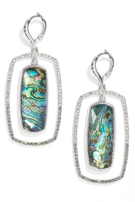 Women's Judith Jack Abalone Orbital Drop Earrings $175 thestylecure.com