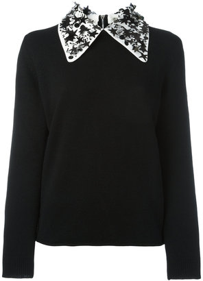 Ps By Paul Smith sequin star collar jumper $440 thestylecure.com
