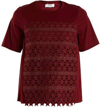 MUVEIL Star-embroidered cotton-blend T-shirt $322 thestylecure.com