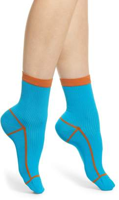 Happy Socks Hysteria by Lily Rib Ankle Socks