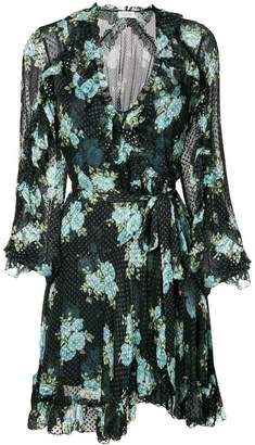 Zimmermann poppy floral wrap dress