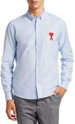 Ami Big A Cotton Sport Shirt